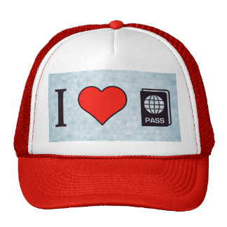 I corazón que va al extranjero gorras de camionero