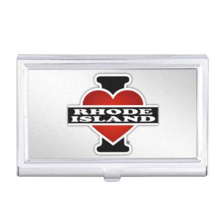 I corazón Rhode Island Caja De Tarjetas De Visita