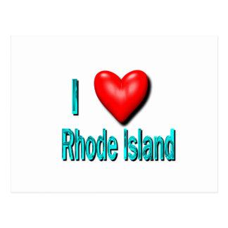 I corazón Rhode Island Tarjetas Postales