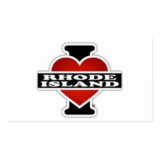 I corazón Rhode Island Tarjetas De Visita