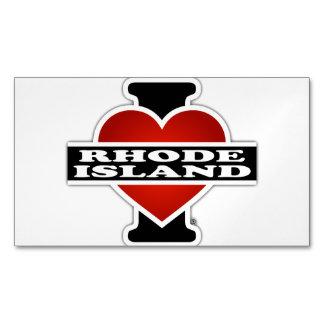 I corazón Rhode Island Tarjetas De Visita Magnéticas (paquete De 25)