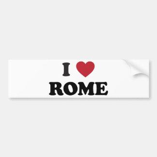 I corazón Roma Italia Pegatina De Parachoque