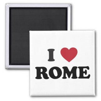 I corazón Roma Italia Imán Cuadrado