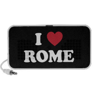 I corazón Roma Italia Laptop Altavoces