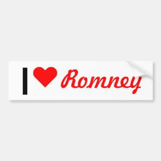 I corazón Romney Pegatina De Parachoque