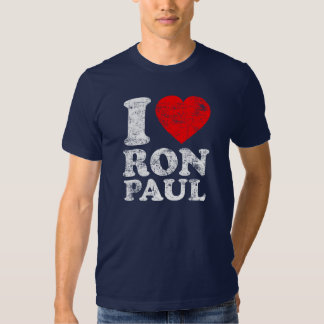 I corazón Ron Paul Poleras