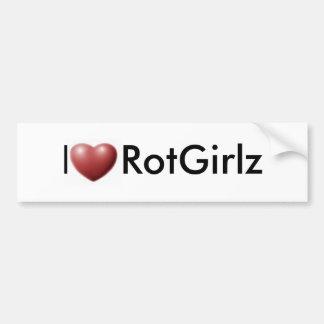 I corazón RotGirlz Pegatina Para Auto