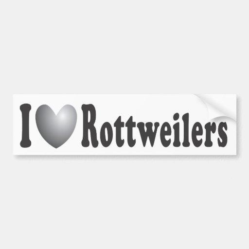 I corazón Rottweilers - pegatina para el parachoqu Pegatina Para Auto