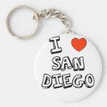 I corazón San Diego Llavero Redondo Tipo Pin