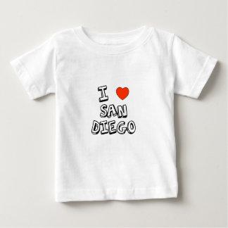 I corazón San Diego Playera De Bebé