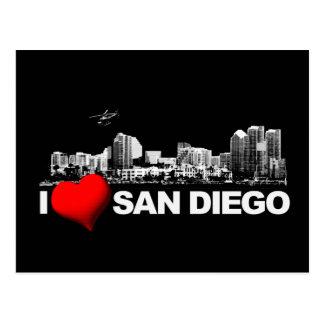 I corazón San Diego Tarjetas Postales