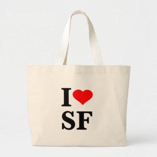 I corazón San Francisco Bolsa Tela Grande