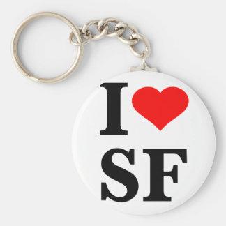 I corazón San Francisco Llavero Redondo Tipo Pin