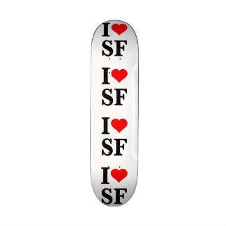 I corazón San Francisco Monopatín