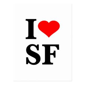 I corazón San Francisco Tarjetas Postales