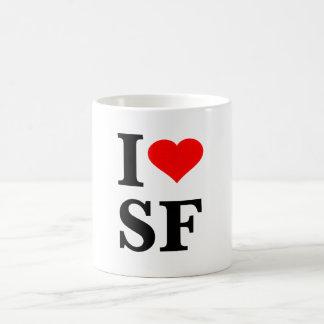 I corazón San Francisco Taza Básica Blanca