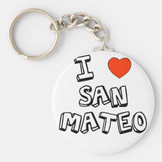 I corazón San Mateo Llavero Redondo Tipo Pin