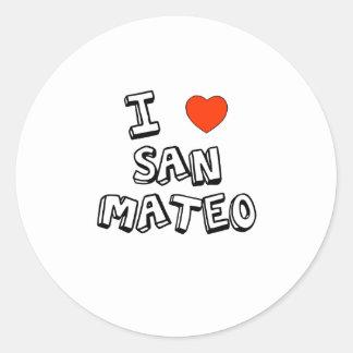 I corazón San Mateo Pegatina Redonda