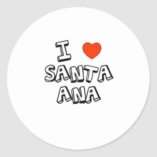 I corazón Santa Ana Pegatina Redonda