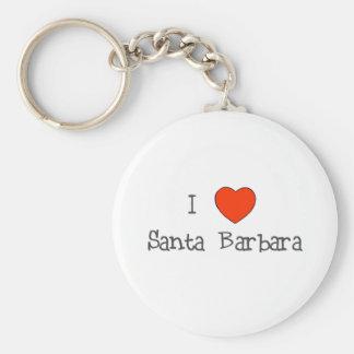 I corazón Santa Barbara Llavero Redondo Tipo Pin