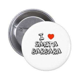 I corazón Santa Barbara Pin Redondo De 2 Pulgadas