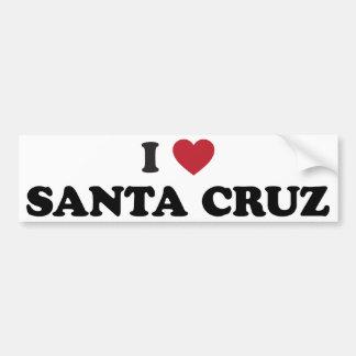 I corazón Santa Cruz Pegatina De Parachoque