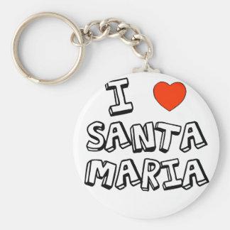 I corazón Santa María Llavero Redondo Tipo Pin