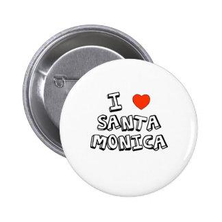I corazón Santa Mónica Pin Redondo De 2 Pulgadas