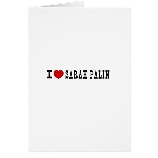 I (corazón) Sarah Palin Tarjetón