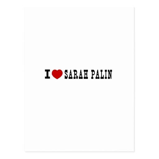 I (corazón) Sarah Palin Tarjeta Postal