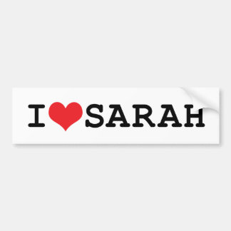 I corazón Sarah Pegatina Para Auto