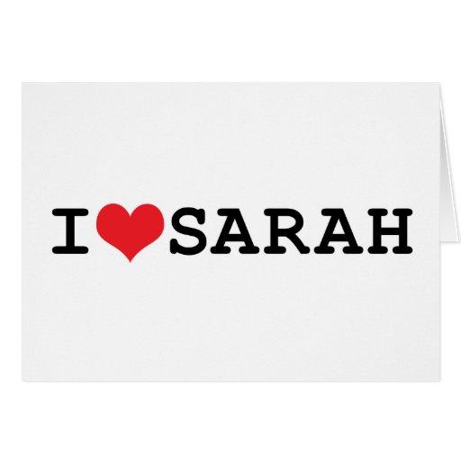 I corazón Sarah Tarjetón
