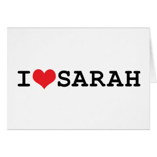I corazón Sarah Tarjeta De Felicitación