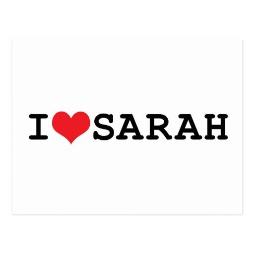 I corazón Sarah Postal
