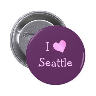 I corazón Seattle Pin Redondo De 2 Pulgadas