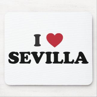 I corazón Sevilla España Tapetes De Raton