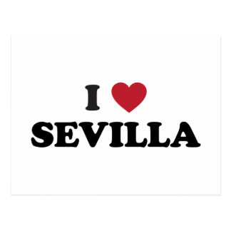 I corazón Sevilla España Tarjetas Postales