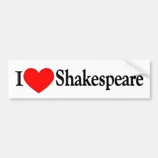 I corazón Shakespeare Pegatina Para Auto