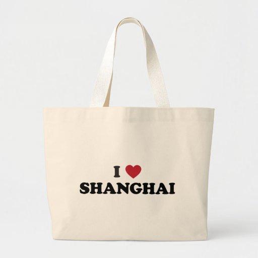 I corazón Shangai China Bolsa Tela Grande