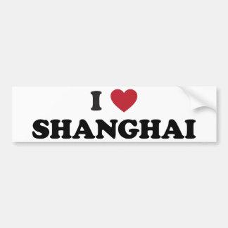 I corazón Shangai China Pegatina De Parachoque
