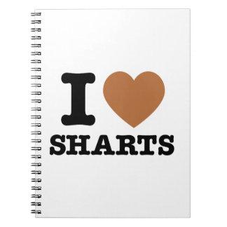 I corazón Sharts Cuaderno