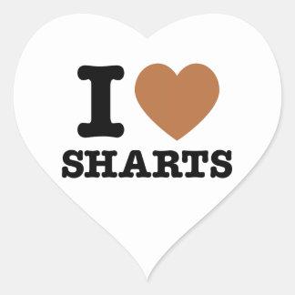 I corazón Sharts Pegatina En Forma De Corazón