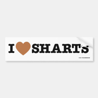 I corazón Sharts Pegatina Para Auto