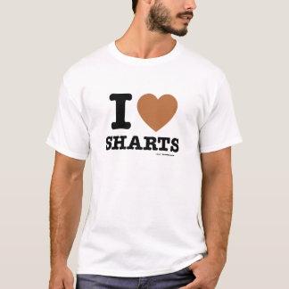 I corazón Sharts Playera