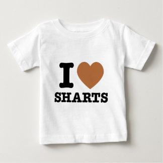 I corazón Sharts Playera De Bebé