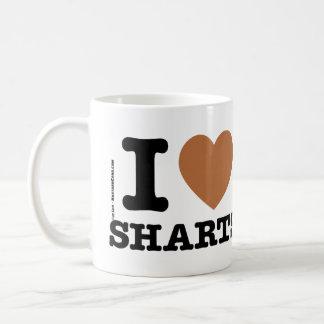 I corazón Sharts Taza