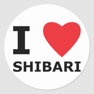 I corazón Shibari, hoja del pegatina en Romaji
