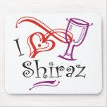 I corazón Shiraz Alfombrillas De Ratón