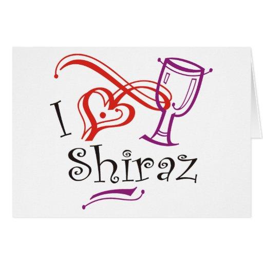 I corazón Shiraz Felicitacion