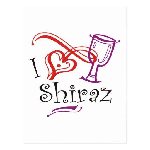 I corazón Shiraz Postal